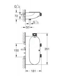 GROHE - Grohtherm SmartControl Kombinovaná termostatická sprchová batéria s 2 ventilmi, chróm (34714000), fotografie 2/1