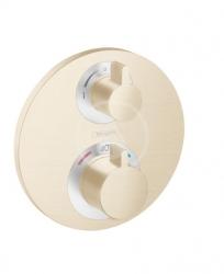 HANSGROHE - Ecostat S Termostatická batéria pod omietku na 2 spotrebiče, kefovaný bronz (15758140)