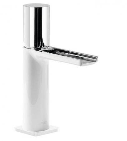 TRES - Umývadlová jednopáková batéria ramienko s otvoreným vodopádom. POZNÁMKA: Batéria typu vodopádu je doplnená dvoma regulačné (20011002BL)