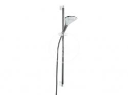 KLUDI - Fizz Súprava sprchovej hlavice, hadice a tyče 900 mm, 3 prúdy, čierna mat (6774087-00)