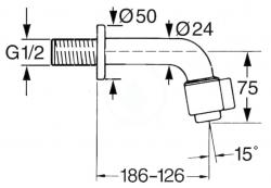 HANSA - Nova Umývadlový nástenný ventil, chróm (00968101), fotografie 2/2