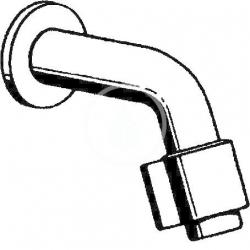 HANSA - Nova Umývadlový nástenný ventil, chróm (00968101), fotografie 4/2