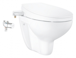 GROHE - Bau Ceramic Manuálne bidetové sedadlo s keramikou a termostatom, softclose, alpská biela (39652SH0)