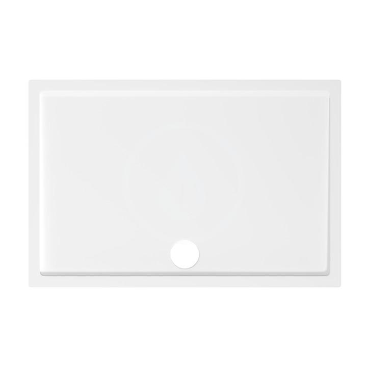 JIKA - Padana Sprchová vanička, liaty mramor, 120 mm x 80 mm, bielax30 mm, biela H2119350000001