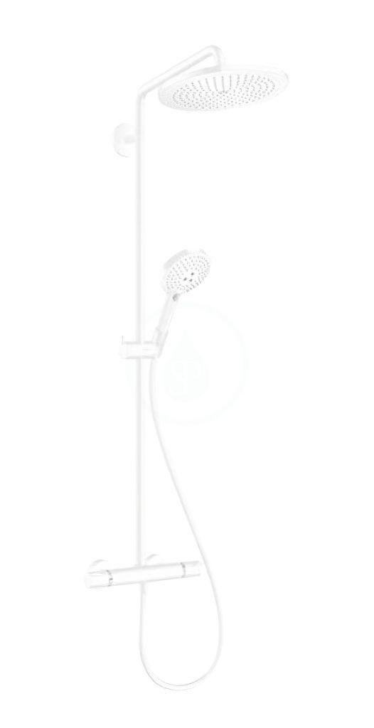 HANSGROHE HANSGROHE - Croma Select S Sprchový set Showerpipe 280 s termostatom, EcoSmart, matná biela 26891700