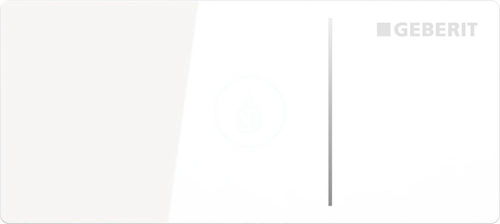 GEBERIT - Omega70 Ovládací tlačítko typ 70, pro oddálené ovládání, pro splachovací nádržku pod omítku Omega, bílé sklo (115.084.SI.1)