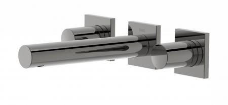 TRES - Nástenná umývadlová batéria, vrátane nerozdělitelného zabudovaného telesa, ramienko 156 mm (21175101KM)