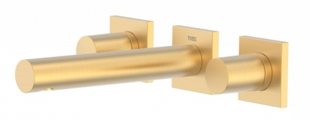 TRES - Nástenná umývadlová batéria, vrátane nerozdělitelného zabudovaného telesa, ramienko 156 mm (21175101OM)