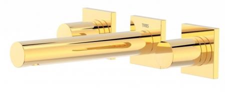 TRES - Nástenná umývadlová batéria, vrátane nerozdělitelného zabudovaného telesa, ramienko 156 mm (21175101OR)