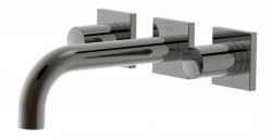 TRES - Nástenná umývadlová batéria, vrátane nerozdělitelného zabudovaného telesa, ramienko 164 mm (21115101KM)