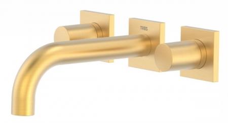 TRES - Nástenná umývadlová batéria, vrátane nerozdělitelného zabudovaného telesa, ramienko 164 mm (21115101OM)
