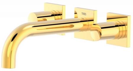TRES - Nástenná umývadlová batéria, vrátane nerozdělitelného zabudovaného telesa, ramienko 164 mm (21115101OR)