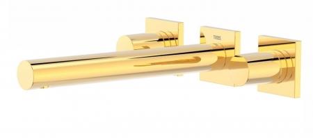 TRES - Nástenná umývadlová batéria, vrátane nerozdělitelného zabudovaného telesa, ramienko 206 mm (21175201OR)