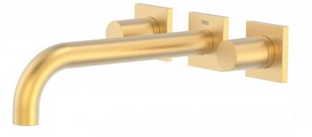 TRES - Nástenná umývadlová batéria, vrátane nerozdělitelného zabudovaného telesa, ramienko 214 mm (21115201OM)