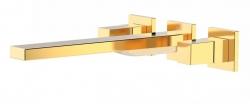 TRES - Nástenná umývadlová batéria, vrátane nerozdělitelného zabudovaného telesa, ramienko 240 mm (00815401OR)