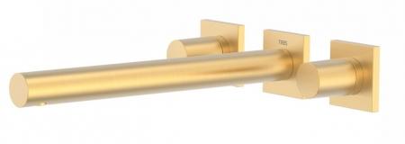 TRES - Nástenná umývadlová batéria, vrátane nerozdělitelného zabudovaného telesa, ramienko 247 mm (21175301OM)