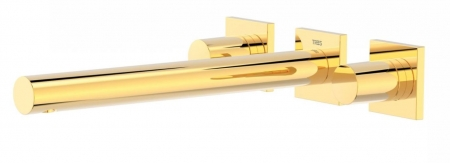 TRES - Nástenná umývadlová batéria, vrátane nerozdělitelného zabudovaného telesa, ramienko 247 mm (21175301OR)