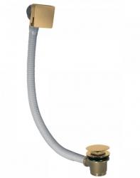 TRES - Odtoková a napúšťacia vaňová hranatá súprava KASKÁDA s prepadom zátka O 70 mm CLICK-CLACK (03453440OM)