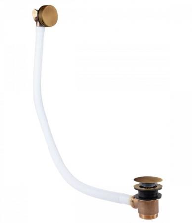 TRES - Odtoková a napúšťacia vaňová guľatá súprava KASKÁDA s prepadom zátka O 70 mm (03453430LM)