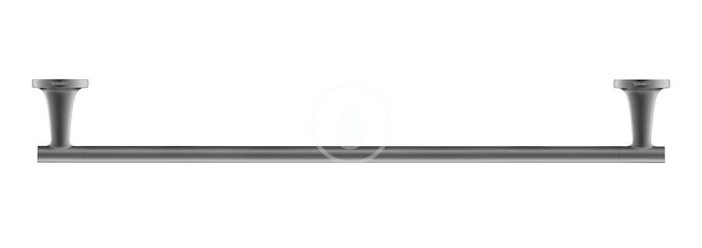 DURAVIT - Starck T Držák ručníků, délka 600 mm, černá mat (0099424600)