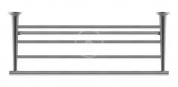 DURAVIT - Starck T Držiak uterákov, dĺžka 600 mm, čierna mat (0099444600)