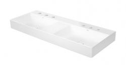 DURAVIT - DuraSquare Dvojumývadlo nábytkové 1200x470 mm, so 6 otvormi na batérie, DuraCeram, alpská biela (2353120073)