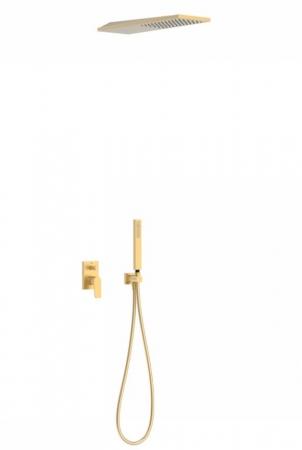 TRES - Podomietková sprchová jednopáková set s uzáverom a reguláciou prietoku, vrátane telesa (21198092OM)