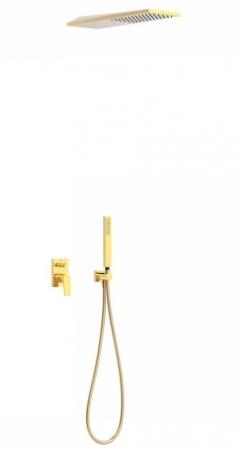 TRES - Podomietková sprchová jednopáková set s uzáverom a reguláciou prietoku, vrátane telesa (21198092OR)