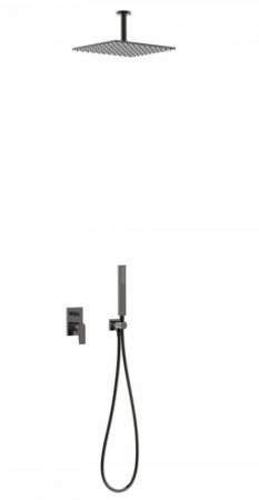 TRES - Podomietková sprchová jednopáková set s uzáverom a reguláciou prietoku, vrátane telesa (21118080KM)
