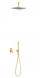 TRES - Podomietková sprchová jednopáková set s uzáverom a reguláciou prietoku, vrátane telesa (21118080OM)