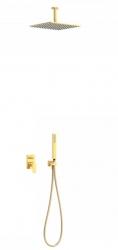 TRES - Podomietková sprchová jednopáková set s uzáverom a reguláciou prietoku, vrátane telesa (21118080OR)