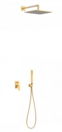 TRES - Podomietková sprchová jednopáková set s uzáverom a reguláciou prietoku, vrátane telesa (21198091OM)