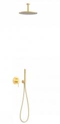 TRES - Podomietková sprchová jednopáková set s uzáverom a reguláciou prietoku, vrátane telesa (26218080OM)
