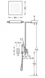 TRES - Podomietková sprchová jednopáková set s uzáverom a reguláciou prietoku, vrátane telesa (20298001OM), fotografie 2/1