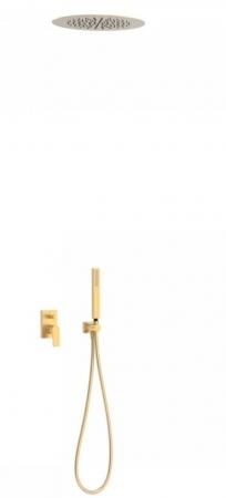 TRES - Podomietková sprchová jednopáková set s uzáverom a reguláciou prietoku, vrátane telesa (21198099OM)