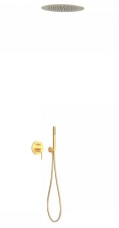 TRES - Podomietková sprchová jednopáková set s uzáverom a reguláciou prietoku, vrátane telesa (26218099OM)
