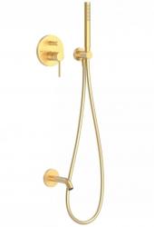 TRES - Podomietková sprchová jednopáková set s uzáverom a reguláciou prietoku, vrátane telesa (26218003OM)