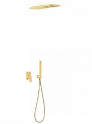 TRES - Podomietkový sprchový set CUADRO s uzáverom a reguláciou prietoku, vrátane telesa (00618003OR)