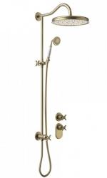 TRES - Podomietkový termostatický sprchový set s uzáverom a reguláciou prietoku, vrátane telesa (24235203LM)