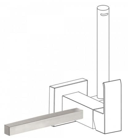 TRES - Príslušenstvo držiak na uteráky 180 mm POZNÁMKA: Pravý alebo ľavý podstavec, vymeniteľný. (03412402AC)