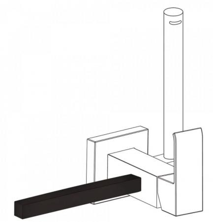 TRES - Príslušenstvo držiak na uteráky 180 mm POZNÁMKA: Pravý alebo ľavý podstavec, vymeniteľný. (03412402NM)