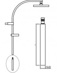 TRES - Prodlužka L = 300 mm (per ref. / For Nr. / Kód: 1.07.395, 007.191.01, 204.395.01, 205.395.01) (910691403AC), fotografie 2/1