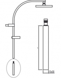 TRES - Prodlužka L = 300 mm (per ref. / For Nr. / Kód: 1.07.395, 007.191.01, 204.395.01, 205.395.01) (910691403BM), fotografie 2/1