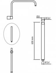 TRES - Prodlužka L = 650 mm (per ref. / For Nr. / Kód: 012.995.01, 070.995.01, 081.192, 081.495.01, 1.81.191, 1.81.386, 1.81.385 (18138506NM), fotografie 2/1