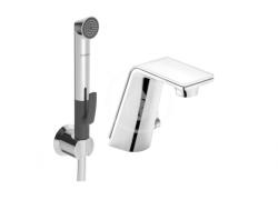HANSA - Alessi Sense Elektronická umývadlová batéria s funkčnou sprchou, Tiptronik, chróm (07742201)