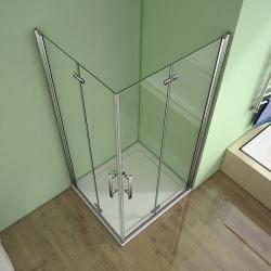 H K - Obdélníkový sprchový kout MELODY R907, 90x70 cm se zalamovacími dveřmi (SE-MELODYR907), fotografie 6/10