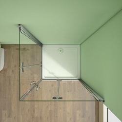 H K - Obdélníkový sprchový kout MELODY R907, 90x70 cm se zalamovacími dveřmi (SE-MELODYR907), fotografie 8/10