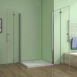 H K - Obdélníkový sprchový kout MELODY R907, 90x70 cm se zalamovacími dveřmi (SE-MELODYR907), fotografie 4/10