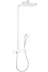 HANSGROHE - Raindance Select E Sprchový set Showerpipe 360 s termostatom ShowerTablet, EcoSmart 9 l/min, biela/chróm (27287400)