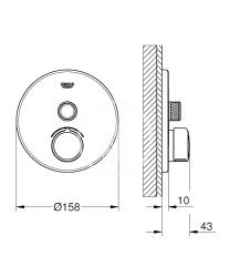 GROHE - SmartControl Batéria pod omietku s jedným ventilom, chróm (29144000), fotografie 2/1